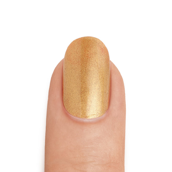 Real Gold Nail Polish with Red Base Coat- MINE Luxury Nail Lacquer