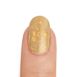 Real 22K Gold Nail Polish with 24K Gold Top Coat- MINE Luxury Nail Lacquer
