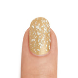 Real White Gold Leaf Top Coat over 22K Gold - MINE Luxury Nail Lacquer