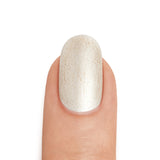Real Silver Nail Polish with 24K Gold Shimmer Top Coat - MINE Luxury Nail Lacquer