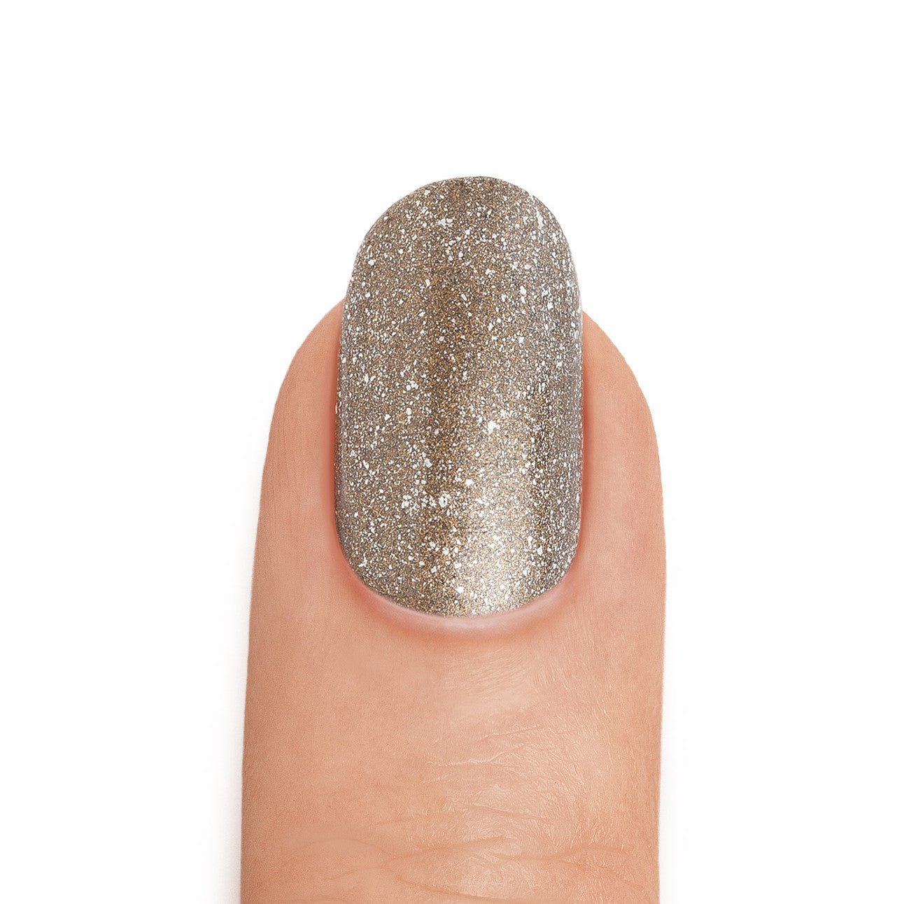 Real Gold & Graphite Nail Polish with Silver Top Coat- MINE Luxury Nail Lacquer