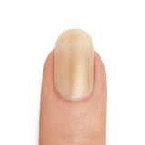 Real Gold Top Coat over Neutral Base Coat - MINE Luxury Nail Lacquer