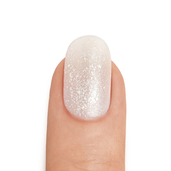 Silver Shimmer Top Coat Neutral Base Coat - MINE Luxury Nail Lacquer