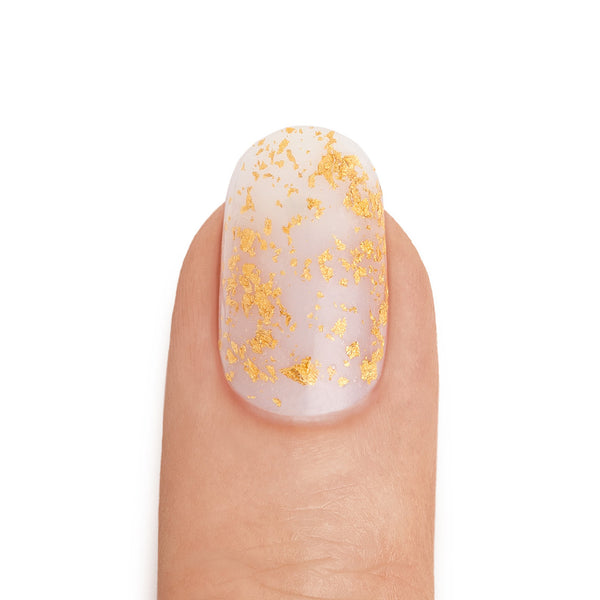 Gold Leaf Top Coat over Neutral Base Coat