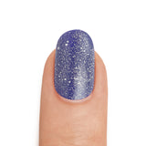 Silver Shimmer Top Coat Royal Blue Base Coat- MINE Luxury Nail Lacquer