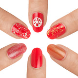 Crimson Base Coat With MINE Gold Top Coats- MINE Luxury Nail Lacquer