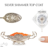 Silver Shimmer Top Coat - MINE Luxury Nail Lacquer