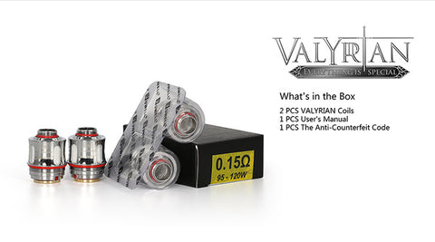 Uwell Valyrian Replacement Coils - 0.15ohm - 2 Pack