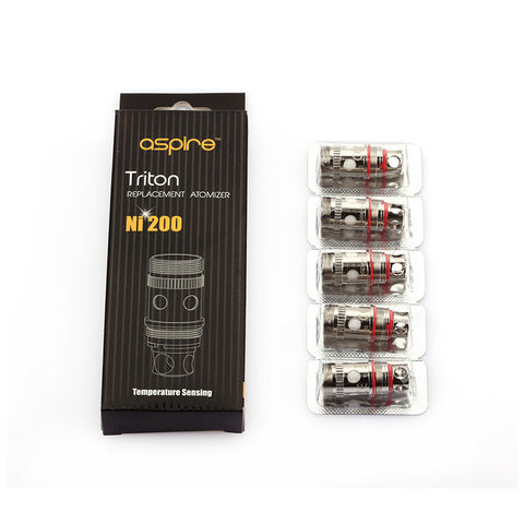 Aspire Triton/Atlantis Ni200 Atomizer Heads - 5 Pack of Replacement Coils