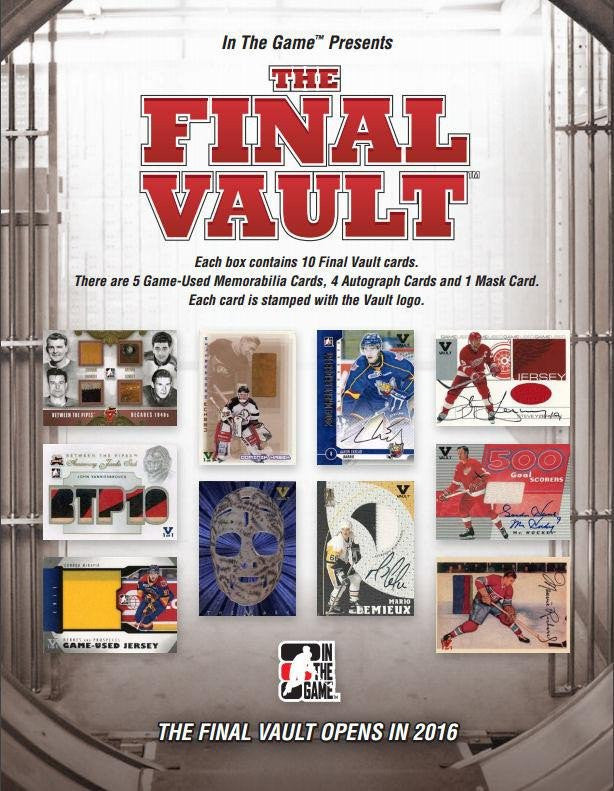 2015-16 In The Game THE FINAL VAULT Hockey Personal Hobby Box