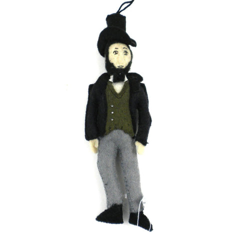 Abraham Lincoln Felt Ornament - Silk Road Bazaar (O)