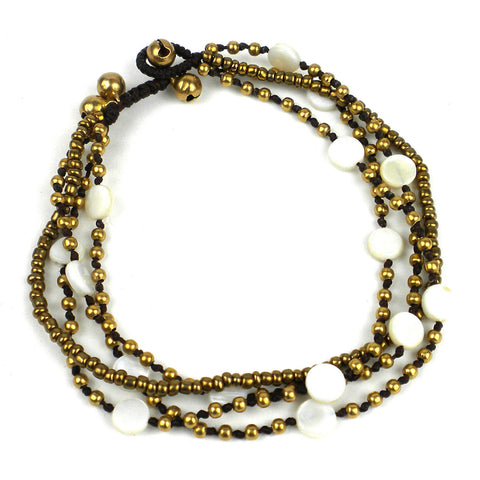Many Moons Anklet - Cream - Global Groove (J)