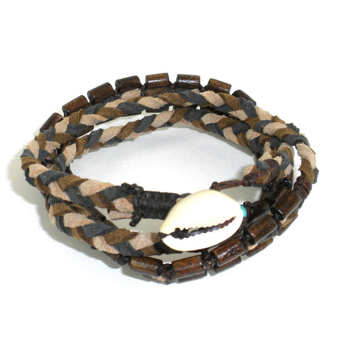 Mens Vegan Wrap Bracelet - Renaissance - Global Groove (J)