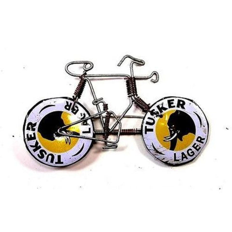 Wire Bicycle Pin with Tusker Wheels - Creative Alternatives