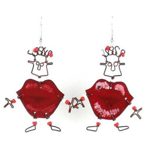 Dancing Girl Kiss Me Quick Earrings - Creative Alternatives