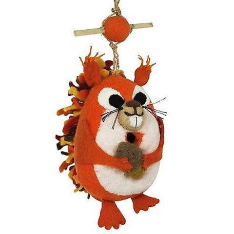 Felt Birdhouse - Nutty Squirrel - Wild Woolies