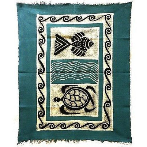 Sea Life Batik in Blue/Black - Tonga Textiles