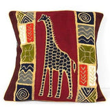 Handmade Colorful Giraffe Batik Cushion Cover - Tonga Textiles