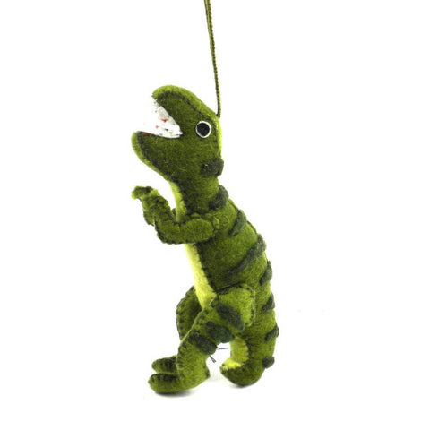 Felt Green T-Rex Ornament - Silk Road Bazaar (O)