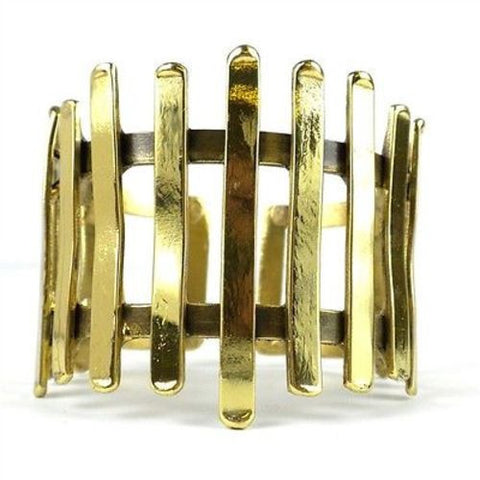 Fence Brass Cuff - Brass Images (C)