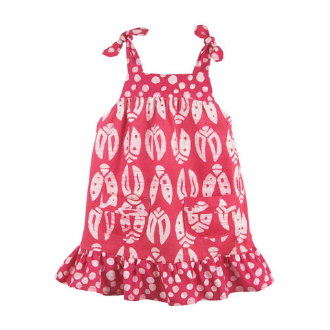 Babies Pocket Dress Bugs Primrose - Global Mamas (B)