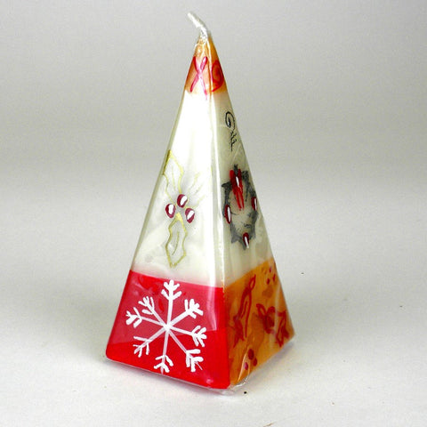 Hand Painted Candle -Pyramid - Kimeta Design - Nobunto