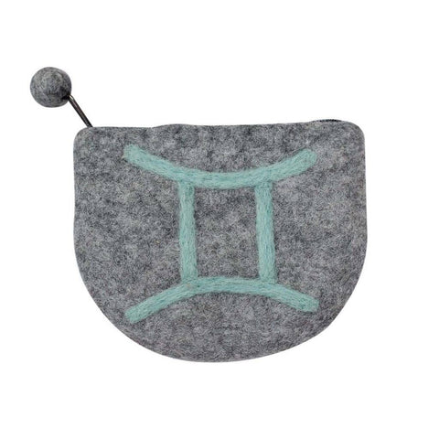 Felt Gemini Zodiac Coin Purse - Global Groove