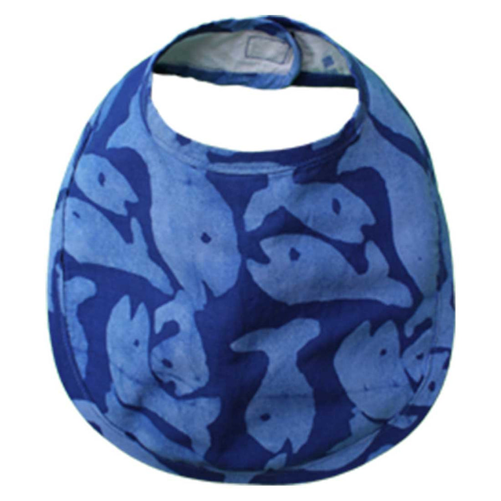 Babies Bib School of Fish Blue One Size - Global Mamas (B)