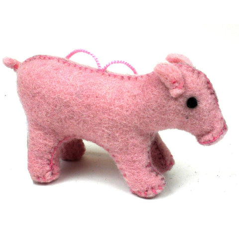 Felt Pig Ornament - Silk Road Bazaar (O)