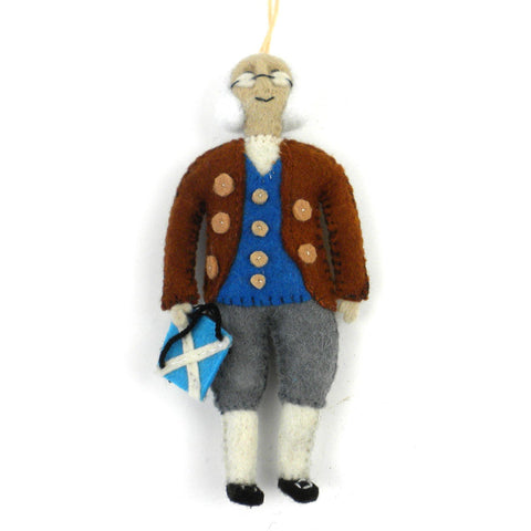 Ben Franklin Felt Ornament - Silk Road Bazaar (O)