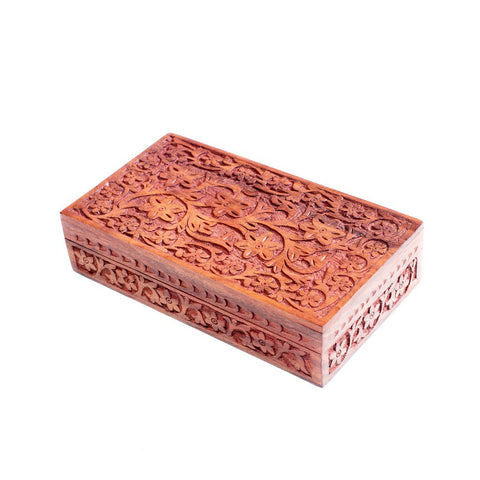 Indian Garden Rosewood Jewelry Box - Matr Boomie (B)