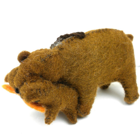 Felt Bear Ornament - Silk Road Bazaar (O)
