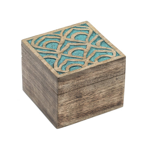 Holi Color Rub Keepsake Box - Peacock - Matr Boomie (B)