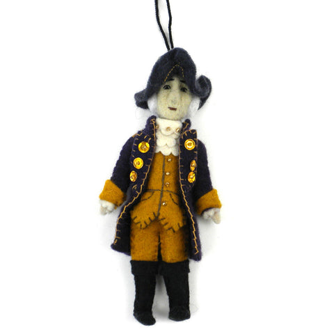 George Washington Felt Ornament - Silk Road Bazaar (O)