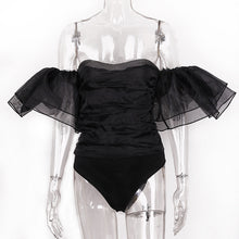 Guardia Ruffles - Sheer bodysuit