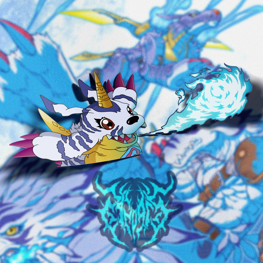 Gabumon Blue Blaster Kiss Cut