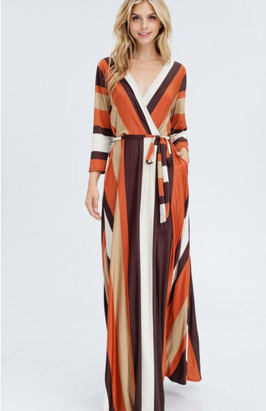 Fall Striped Maxi - BRIDGET CUNNINGHAM
