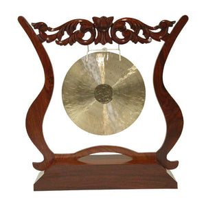 Dobani Gong Stands Rosewood Gong Stand - Holds gongs up to 14""