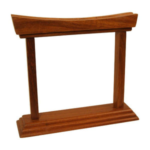 Dobani Gong Stands Rosewood Gong Stand - holds Gongs up to 6""