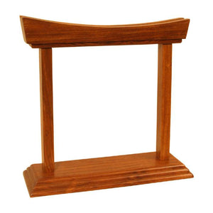 Dobani Gong Stands Rosewood Gong Stand - holds Gongs up to 7""