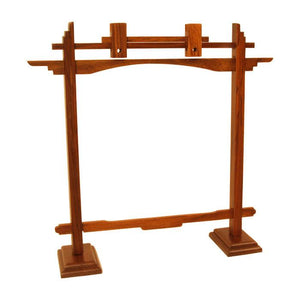 Dobani Gong Stands Rosewood Pedestal Gong Stand - fits gongs up to 22""