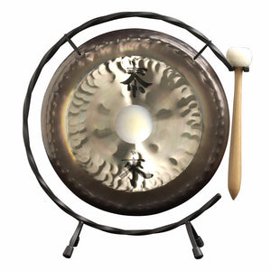 "Paiste Small Chinese Gongs with Stand Combos 4"" to 13"" 13"" Paiste Deco Gong Set with Stand & Mallet"