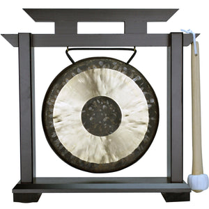 "The Gong Shop Small Chinese Gongs with Stand Combos 4"" to 13"" 07"" Chau Gong on Kodo Stand"