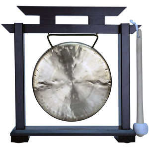"The Gong Shop Small Chinese Gongs with Stand Combos 4"" to 13"" 07"" Ma Gong on Kodo Stand"