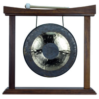 """14"""" Chau Gong on Curved Rosewood Gong Stand with Mallet"""