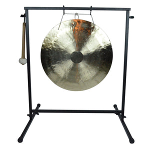 "The Gong Shop Featured Products 20"" Wind Gong on Chronos Metal Gong Stand with Mallet"