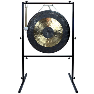 "The Gong Shop Large Chinese Gongs with Stand Combos 24"" to 34"" 24"" Chau Gong on Wuhan Gong Stand with Mallet"