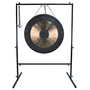 "The Gong Shop Large Chinese Gongs with Stand Combos 24"" to 34"" 32"" Chau Gong on Wuhan Gong Stand with Mallet"