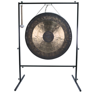 "The Gong Shop Huge Chinese Gongs with Stand Combos 36"" to 50"" 36"" Chau Gong on Wuhan Gong Stand with Mallet"