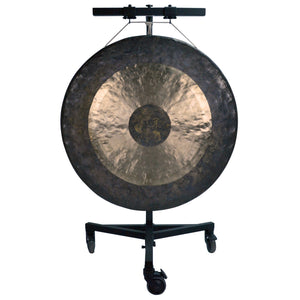 "The Gong Shop Huge Chinese Gongs with Stand Combos 36"" to 50"" 40"" Chau Gong on Adams Gong Stand with Mallet"